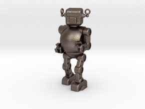 Retro 50's Toy Robot in Polished Bronzed Silver Steel