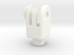 Head-set-cap-mount in White Processed Versatile Plastic
