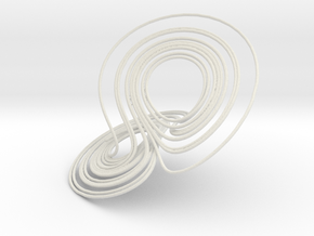 Lorenz Attractor in White Natural Versatile Plastic