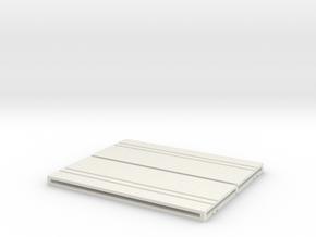 Concrete Security Fences (4) in White Natural Versatile Plastic