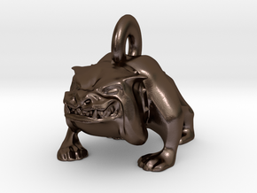 Bulldog Pendant in Polished Bronze Steel