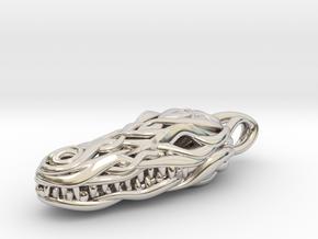 the Crocodile Head Pendant in Platinum