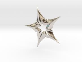 Star In A Star Distortion in Rhodium Plated Brass