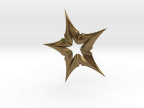 Star In A Star Distortion in Natural Bronze