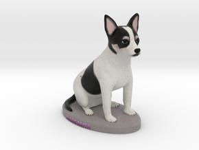 Custom Dog Figurine - Margarita in Full Color Sandstone
