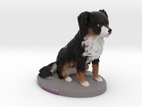 Custom Dog Figurine - Chewbacca in Full Color Sandstone