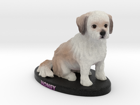 Custom Dog Figurine - Honey in Full Color Sandstone