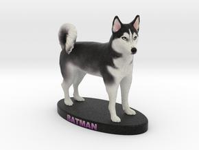 Custom Dog Figurine - Batman in Full Color Sandstone
