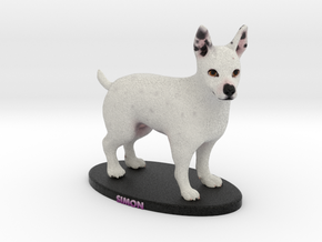 Custom Dog Figurine - Simon in Full Color Sandstone