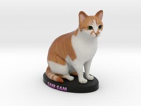 Custom Cat Figurine - Sam Sam in Full Color Sandstone