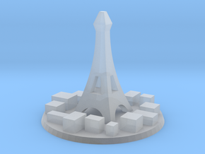 Paris City Marker in Smooth Fine Detail Plastic