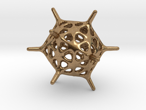 Adenovirus Pendant in Natural Brass