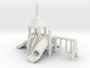 Spielplatz klein - 1:160 (Z scale) in White Strong & Flexible