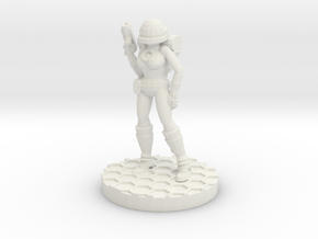 Space Girl in White Natural Versatile Plastic