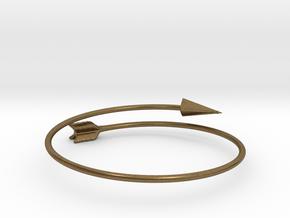 Arrow Bracelet in Natural Bronze