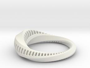 Torus Sculpture medium in White Natural Versatile Plastic