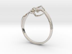 Mermaid Bracelet  in Rhodium Plated Brass