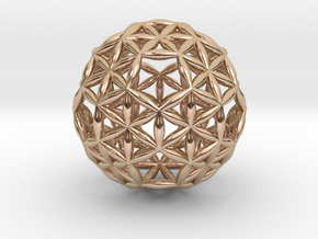 Superconsciousness Sphere in 14k Rose Gold Plated Brass