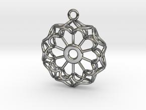 Flower Earring in Fine Detail Polished Silver