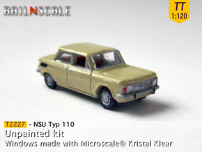 NSU Typ 110 (TT 1:120) in Smooth Fine Detail Plastic