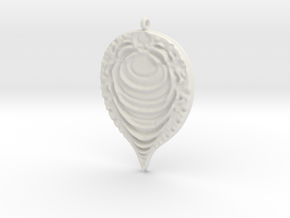 Fractal Pendant in White Natural Versatile Plastic