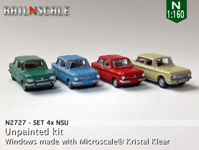 SET 4x NSU (N 1:160) in Frosted Ultra Detail