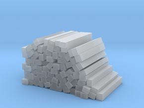 Stack of Railroad Ties - Random in Smooth Fine Detail Plastic