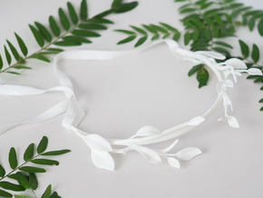 Leaf & Branch Crown in White Natural Versatile Plastic