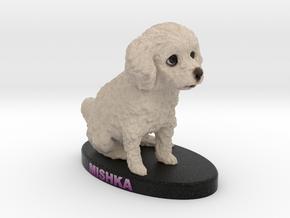Custom Dog Figurine - Mishka in Full Color Sandstone