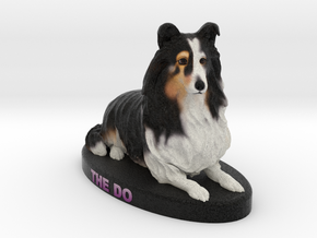 Custom Dog Figurine - Shelby in Full Color Sandstone