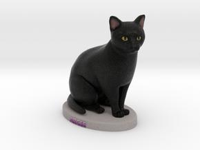 Custom Cat Figurine - Arcee in Full Color Sandstone