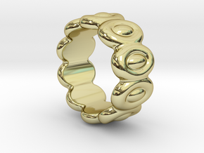Elliptic Ring 21 - Italian Size 21 in 18k Gold Plated