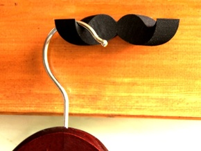 Moustache Coat Hanger in Black Strong & Flexible