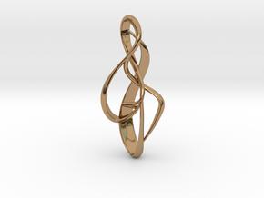 pendant : { i } 002 MEDIUM in Polished Brass