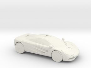 McLaren F1 in White Natural Versatile Plastic