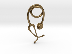 Stethoscope pendant in Polished Bronze