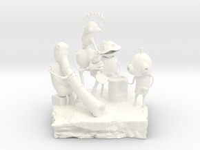 Machinarium in White Strong & Flexible Polished