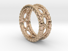 Ring Ring 23 - Italian Size 23 in 14k Rose Gold Plated Brass
