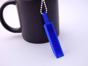 Pendant Teaspoon 1 tsp in Blue Processed Versatile Plastic