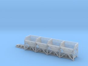 N Scale Aggregate Hopper 4+conveyor in Smooth Fine Detail Plastic