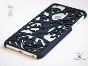 "Iphone 6 Plus  cover ""Tree of life"" in Black Natural Versatile Plastic"