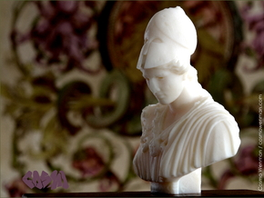 Bust of Athena of Velletri, goddess of technology in White Natural Versatile Plastic