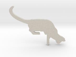 Desk Cat in Natural Sandstone