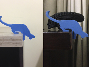 Desk Cat in Blue Processed Versatile Plastic