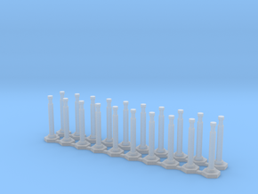 "48"" Delineator ""Grabber"" Cones 20 Pack in Smooth Fine Detail Plastic"