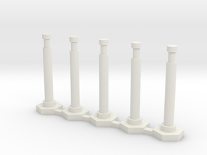 """48"""" Delineator """"Grabber"""" Cone 5PK - 1:87 HO Scale in White Strong & Flexible"""