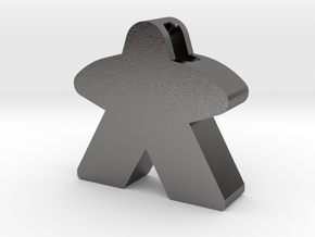 Meeple Pendant in Polished Nickel Steel