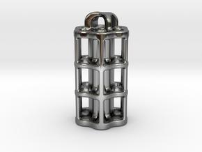 Tritium Lantern 5C (3x25mm Vials) in Fine Detail Polished Silver