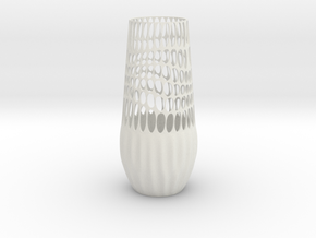 Epidermis Vase in White Natural Versatile Plastic