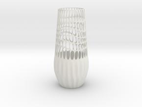 Epidermis Vase in White Strong & Flexible